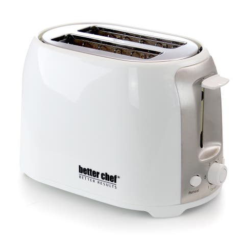 Better Chef Cool Touch Wide-Slot Toaster- White