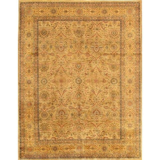Link to Tabriz Collection Beige/Gold Hand-Knotted Wool Area Rug - 9' x 12' Similar Items in Rugs