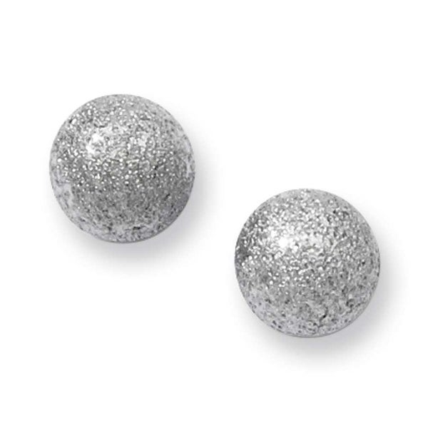 Stainless Steel Laser Cut 7mm Bead Post Earrings