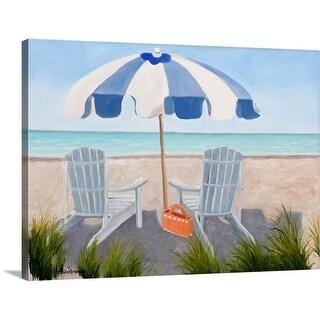 """""""Blue Beach"""" Canvas Wall Art"""