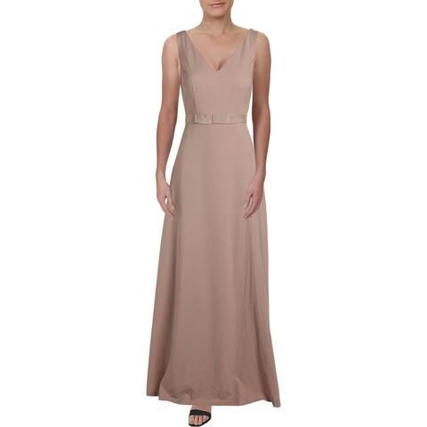 Kay Unger New York Womens Evening Dress V-Neck Sleeveless