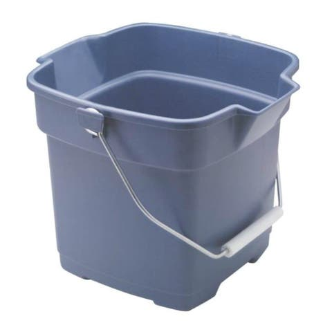 Rubbermaid FG296400ROYBL Roughneck Square Utility Bucket, 12 Quart, Plastic