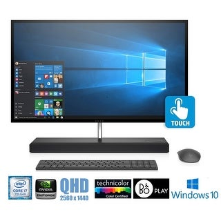 "HP ENVY 27-b114 Core i7-7700T 27"" QHD Touch Screen 256GB SSD 2TB HD All-in-One - Black"