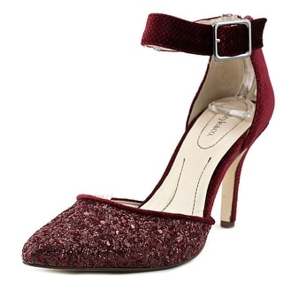 Style & Co Galaxy Women Pointed Toe Synthetic Burgundy Heels