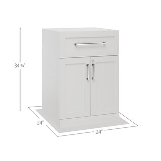 "NewAge Products Home Bar Series 24"" 2 Door and Drawer Cabinet"