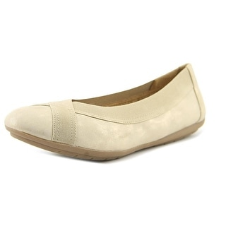 Naturalizer Uphold Women  Round Toe Suede Gold Flats