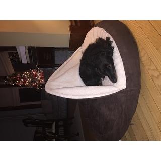 FurHaven Faux Sheepskin Snuggery Burrow Orthopedic Pet Bed