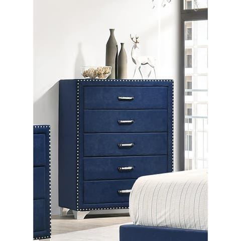 Chantel 5-drawer Upholstered Chest