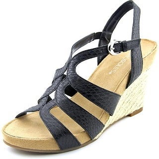 Aerosoles Plush Plenty   Open Toe Synthetic  Wedge Sandal