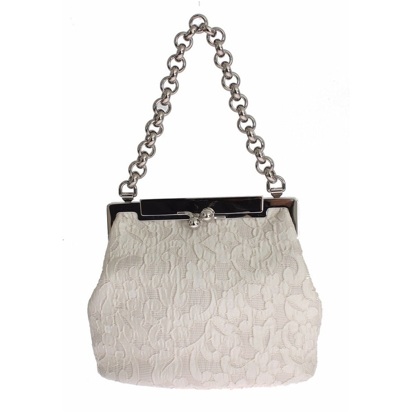 5d896d2490c8 Shop Dolce   Gabbana Bag SARA White Lace Brocade Hand Purse - Free ...