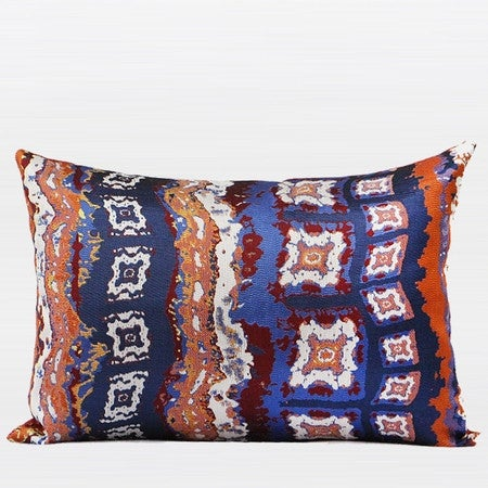 "G Home Collection Luxury Tangerine Tribe Pattern Jacquard Pillow 14""X20"""