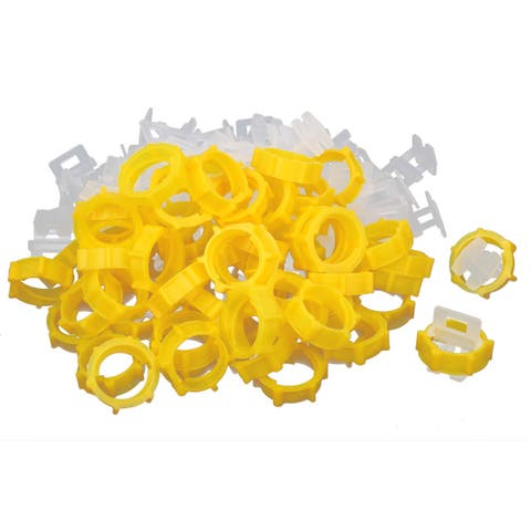 Tile Leveling System Straps Caps Clips Spacers Level Tools 100pcs for Wall Floor