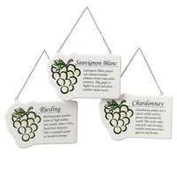 Sauvignon Blanc White Wine Plaque Christmas Ornament
