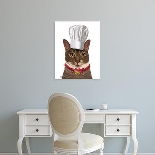 Easy Art Prints Fab Funky's 'Cat Chef' Premium Canvas Art