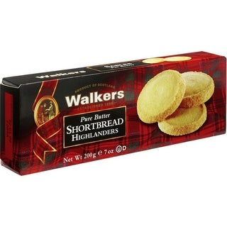 Walkers Shortbread - Pure Butter Shortbread Highlanders ( 12 - 4.7 oz boxes)