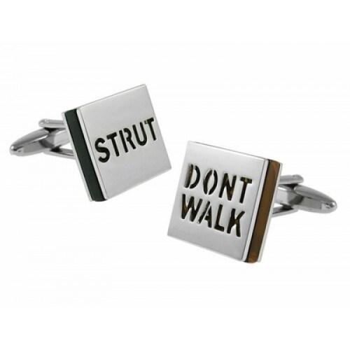 Strut Don't Walk Attitude Cufflinks