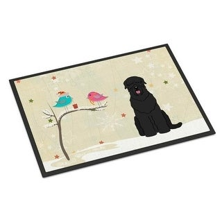 Carolines Treasures BB2498MAT Christmas Presents Between Friends Black Russian Terrier Indoor or Outdoor Mat 18 x 0.25 x 27 in.
