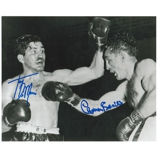 Carmen Basilio and Tony DeMarco Dual Autographed 8x10 Photo This Item comes with a COA from AutographSports