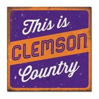 Clemson University Large Tin Sign