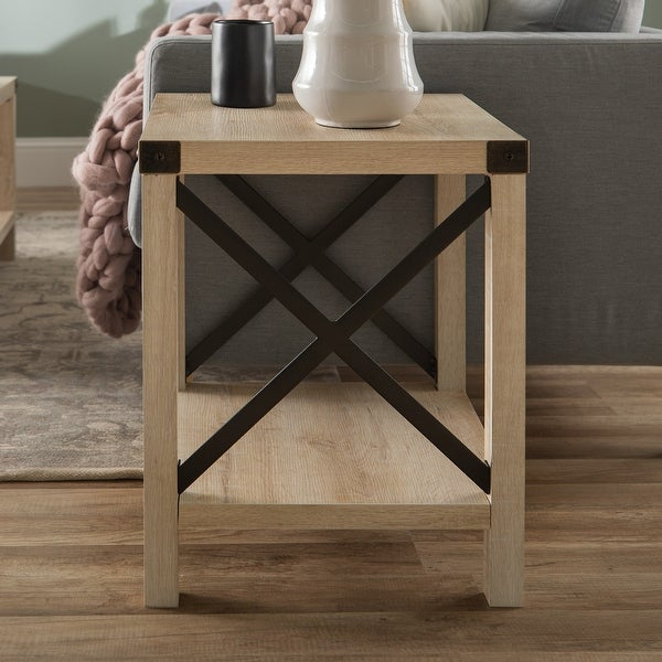 The Gray Barn 18-inch Kujawa X-Accent Side Table
