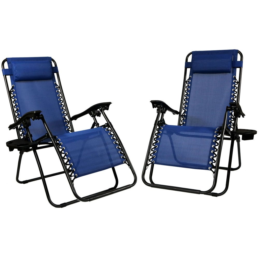 Sunnydaze Zero Gravity Lounge Chair with Pillow and Cup Holder, Multiple Colors Available - Thumbnail 69