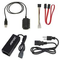 "AGPtek SATA/PATA/IDE Drive to USB 2.0 Adapter Converter for Hard Drive Disk HDD 2.5"" 3.5"" + External AC Power Adapter"