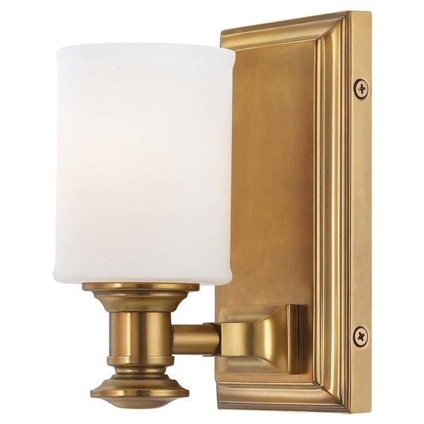 Minka Lavery 5171 1 Light Bathroom Sconce from the Harbour Point Collection - liberty gold