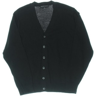Tricots St. Raphael Mens Button Front V-Neck Cardigan Sweater