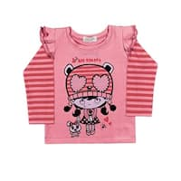 Baby Girl T-Shirt Long Sleeve Newborn Infant Graphic Tee Pulla Bulla 3-12 Months