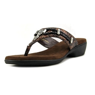 Rialto Kismet Women Open Toe Leather Brown Thong Sandal