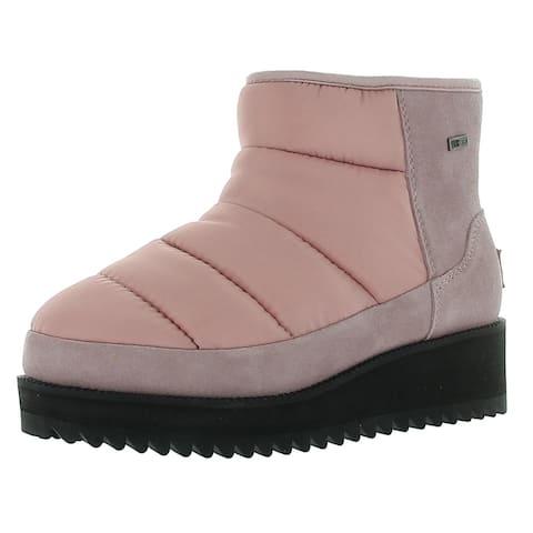 Ugg Womens Ridge Mini Winter Boots Suede Cold Weather - Pink - 5 Medium (B,M)