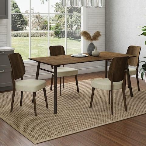 Carson Carrington Janega 5-piece Rectangular Table and Armless Wood Back Dining Chairs