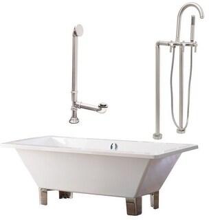"""Giagni LT6 Tella 66"""" Free Standing Soaking Tub Package - Includes Tub, Tub Feet,"""