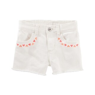 OshKosh B'gosh Baby Girls' Embroidered Twill Shorts