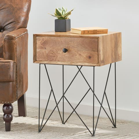 Galion Handcrafted Mango Wood Side Table by Christopher Knight Home