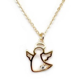 Julieta Jewelry Angel Outline Charm Necklace