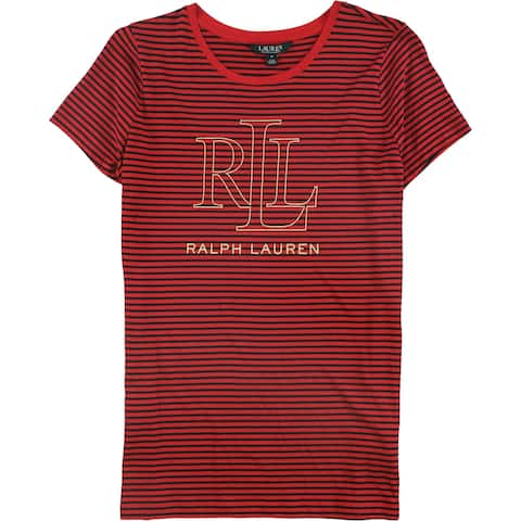 Ralph Lauren Womens Striped Graphic T-Shirt