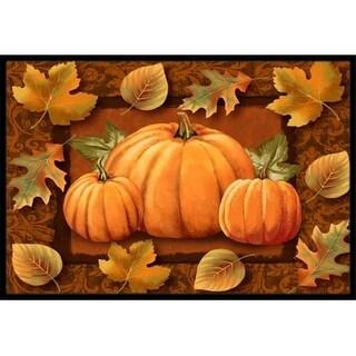 Carolines Treasures PTW2009JMAT Pumpkins And Fall Leaves Indoor & Outdoor Mat 24 x 36 in.