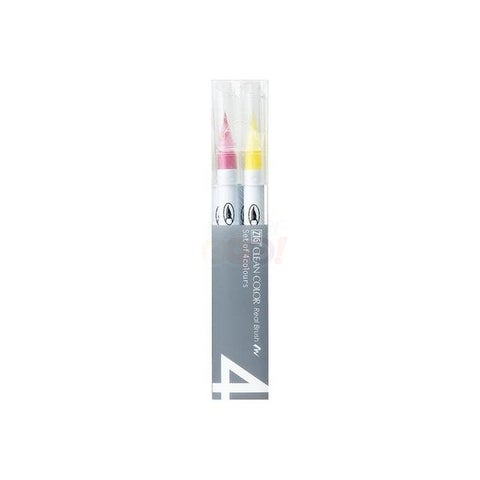 Zig Clean Color Real Brush Mark Set 4VC Pure 4pc
