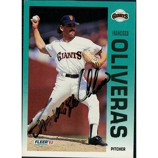 Signed Oliveras Francisco San Francisco Giants 1992 Fleer Baseball Card autographed