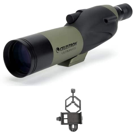 Celestron 65mm UltimaStraight Spotting Scope SmartPhone Adapter Bundle