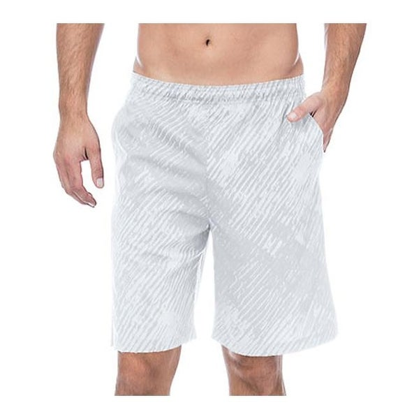1645c5e5a5 Shop Fila Men's Fundamentals Brushstroke Short White Print - On Sale - Free  Shipping On Orders Over $45 - Overstock.com - 11132730