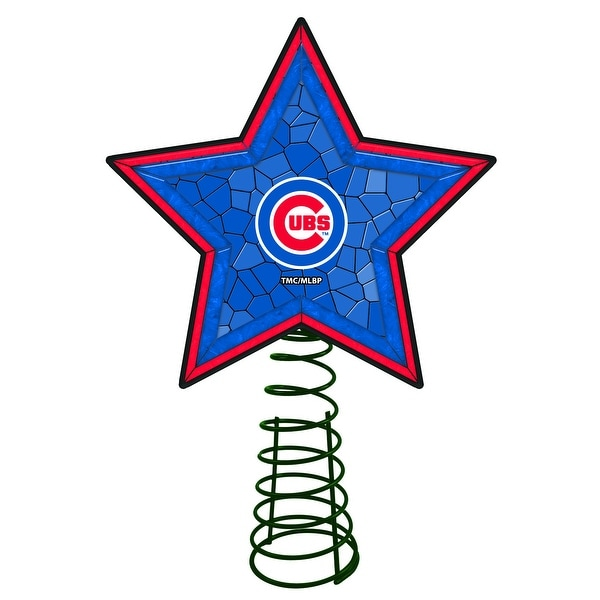 Chicago Cubs Mosaic Tree Topper