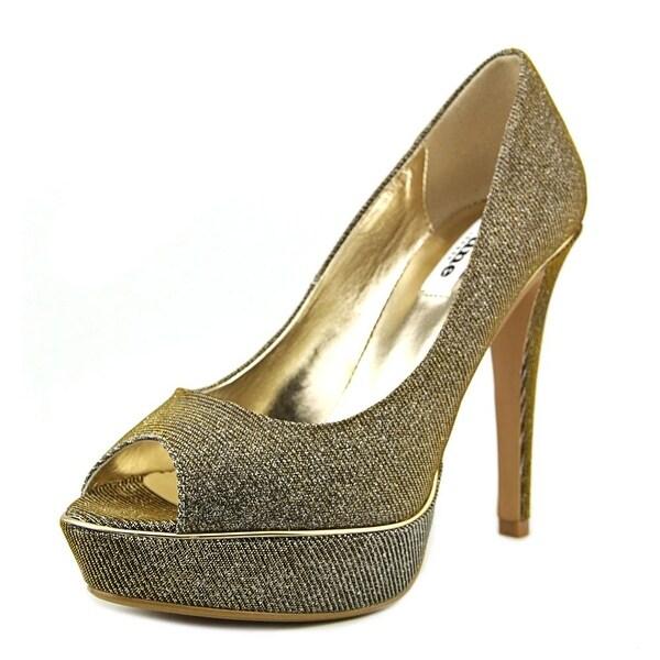 Dune London Daviner Women  Open Toe Synthetic Gold Platform Heel