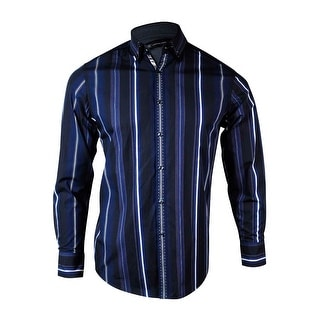 INC International Concepts Men's Running Stitched Striped Shirt - S