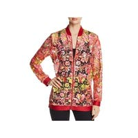 T Tahari Womens Gale Jacket Lace Floral Print