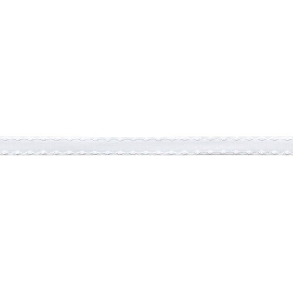 "Satin Ribbon W/Knotted Edge 3/8""X50yd-White - White"