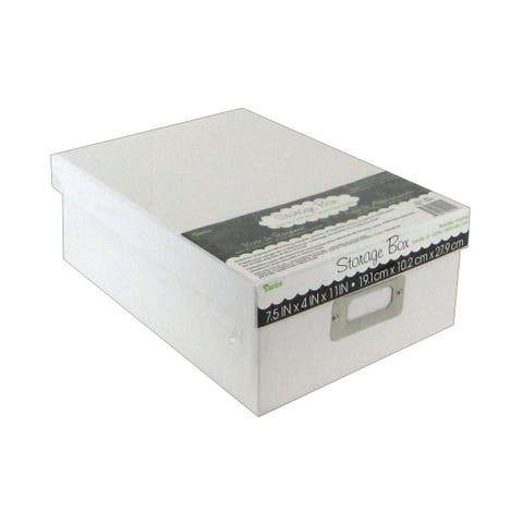 2505-53 darice storage photo box 7 5x4x11 white