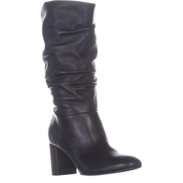 2bd5e0d2376 Shop Via Spiga Naren Block Heel Pull on Boots, Black Leather - 7 US ...