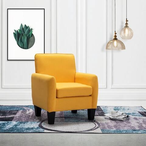 Mia Linen Accent Armchair